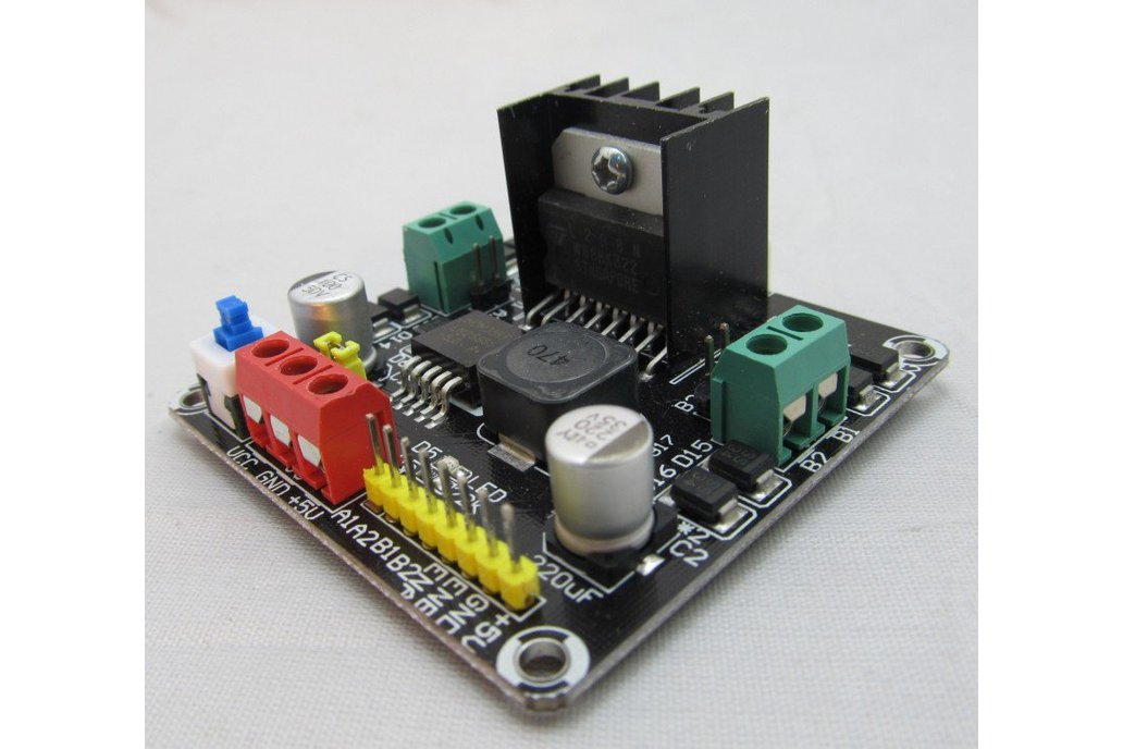 2DC Motor Controller compatible with arduino for 2WD robot chassis 1