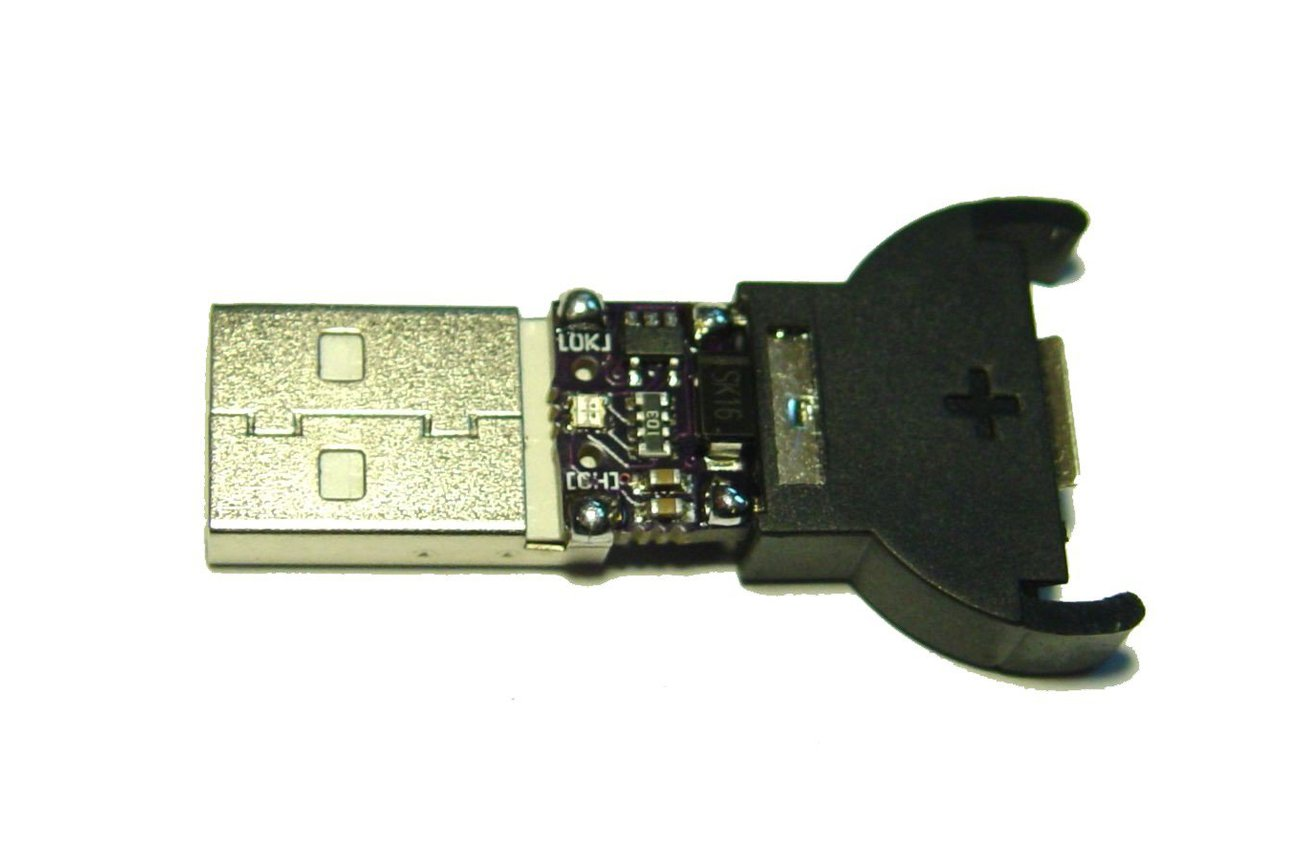 USB Lithium Ion coin cell battery charger LIR2032