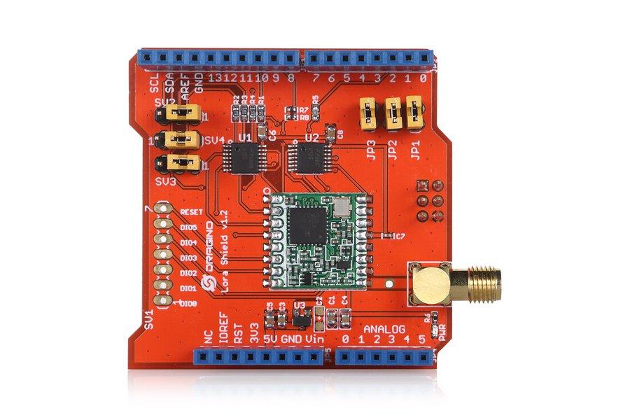 Lora Shield-Long distance wireless 433/868/915Mhz