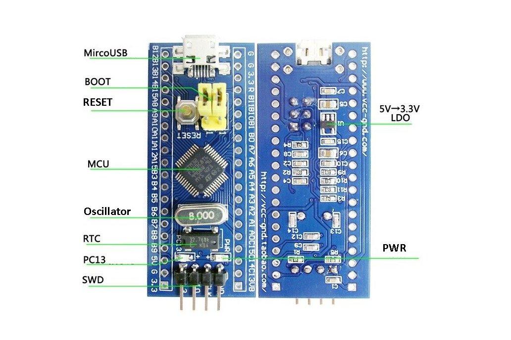 STM32F103C8T6 ARM STM32 Minimum Embedded System 2