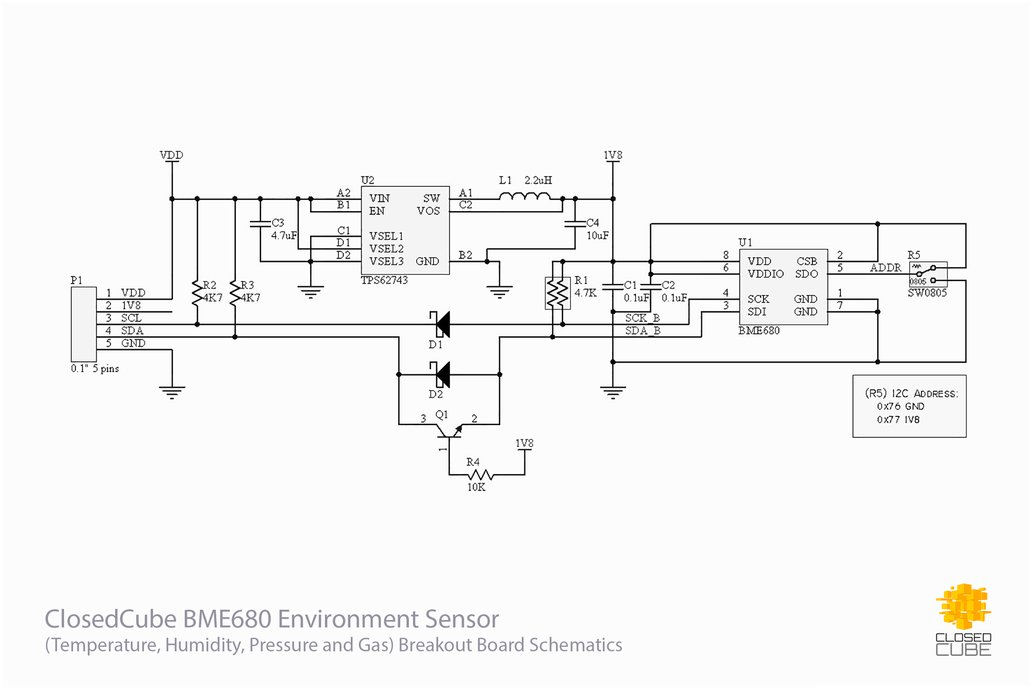 BME680 Environment Sensor with Ultra Low 1.8V Out 3