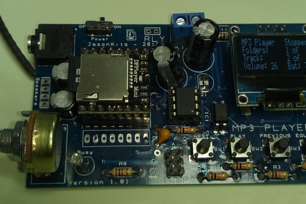 Tiny MP3/WAV Player with OLED Display 128x64