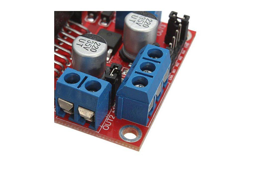 L298N Dual H Bridge DC Stepper Motor Driver Module Controller Board For Arduino 8