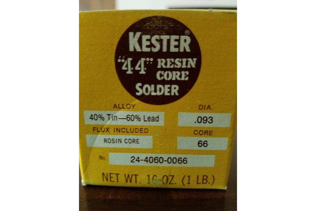 "Kester 44 Solder - 60/40 - .093"" - 1lb 2"