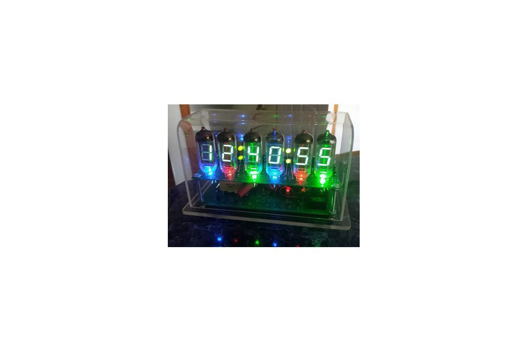 VFD clock using IV-11 big Soviet era vacuum tubes 1