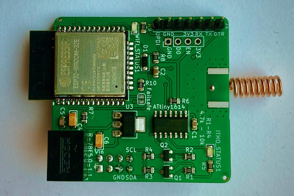 Itho CVE RFT WiFi add-on + CC1101 RF module 1
