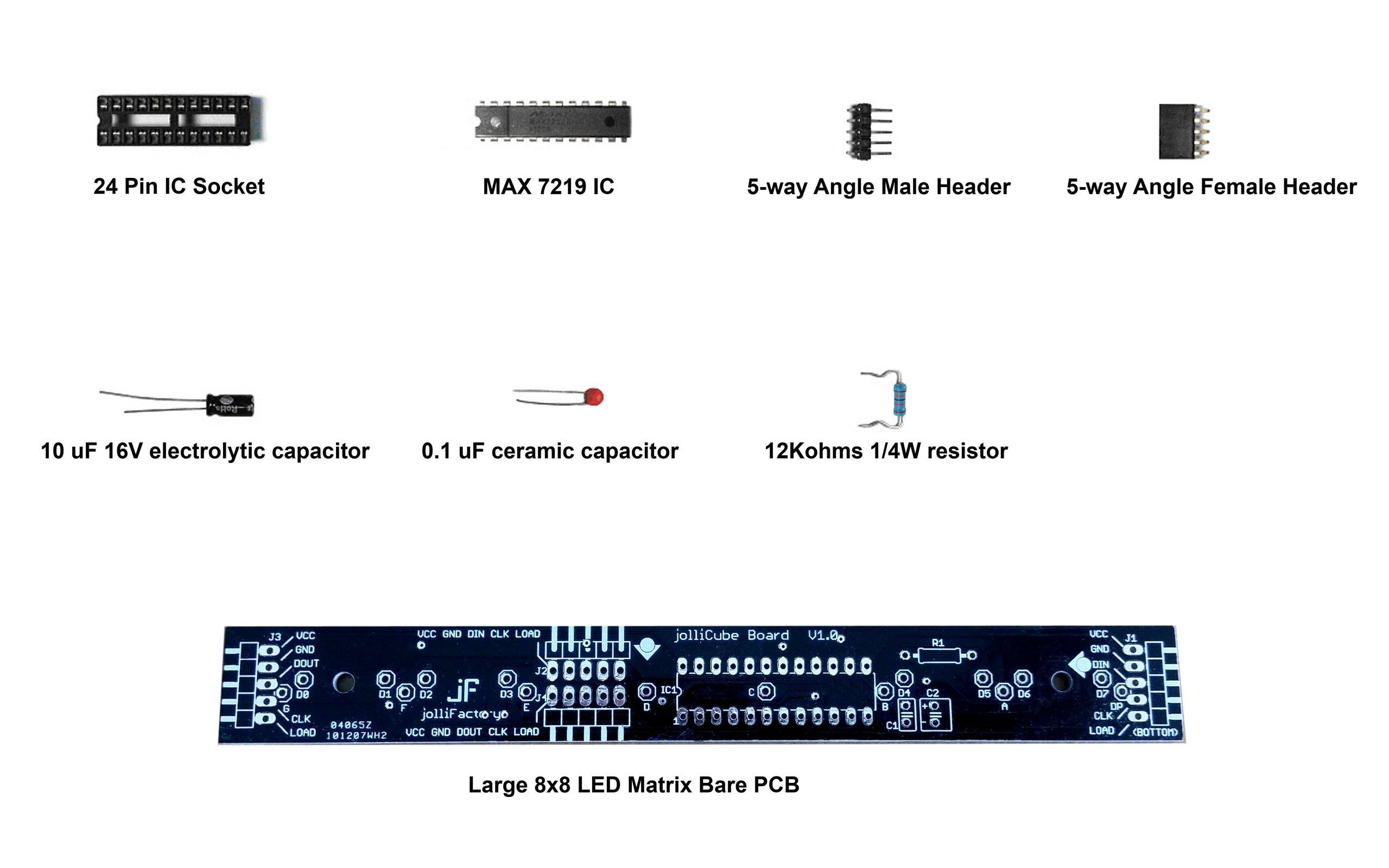 Large 8x8 LED Matrix Module DIY Kit 2