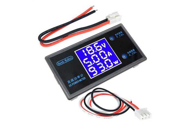 DC Power Meter Voltmeter Ammeter