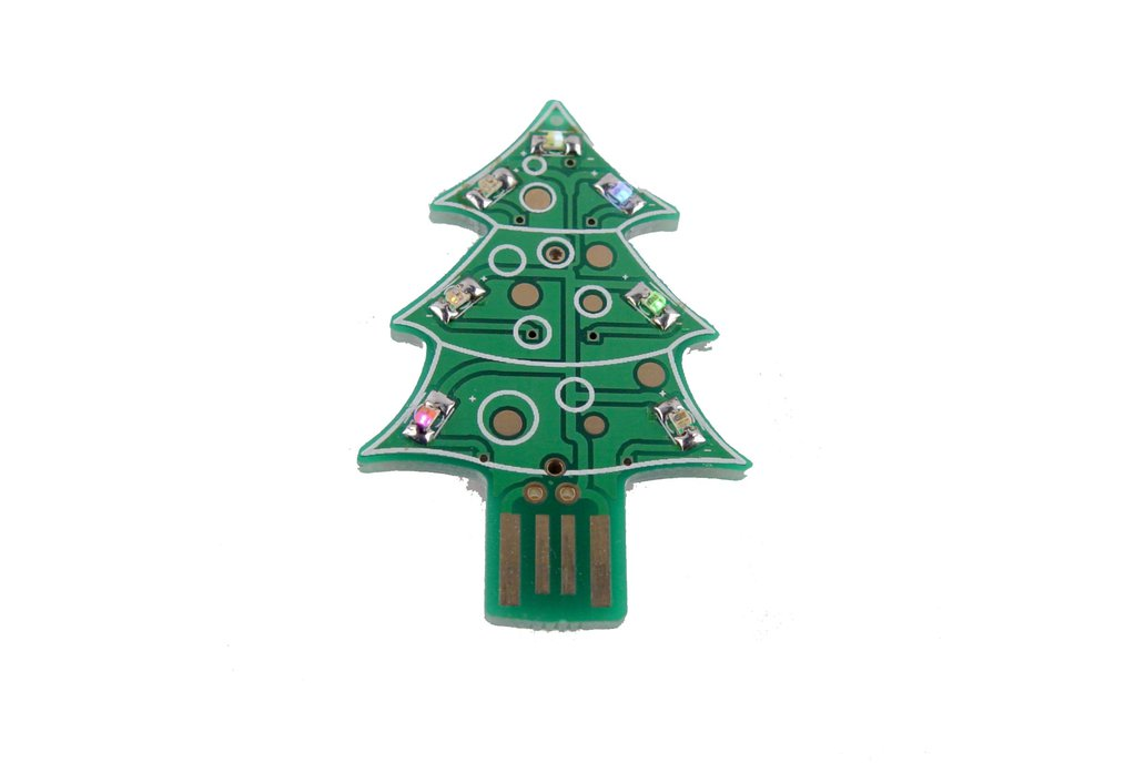 USB & Supercapacitor powered LED Xmas tree - KIT 1