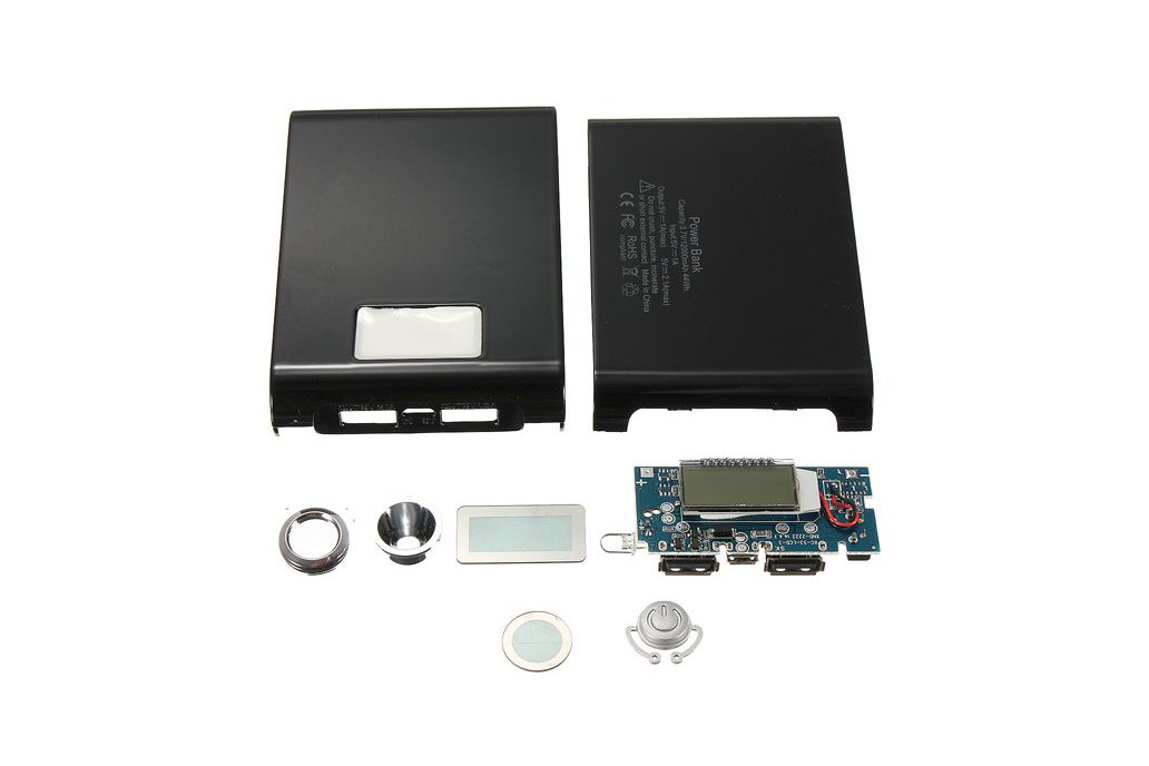 DIY Kit Dual USB Power Bank Battery Charger Box 4