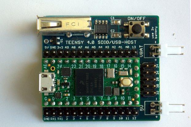 Teensy 4.0 SDIO + USB-HOST Board