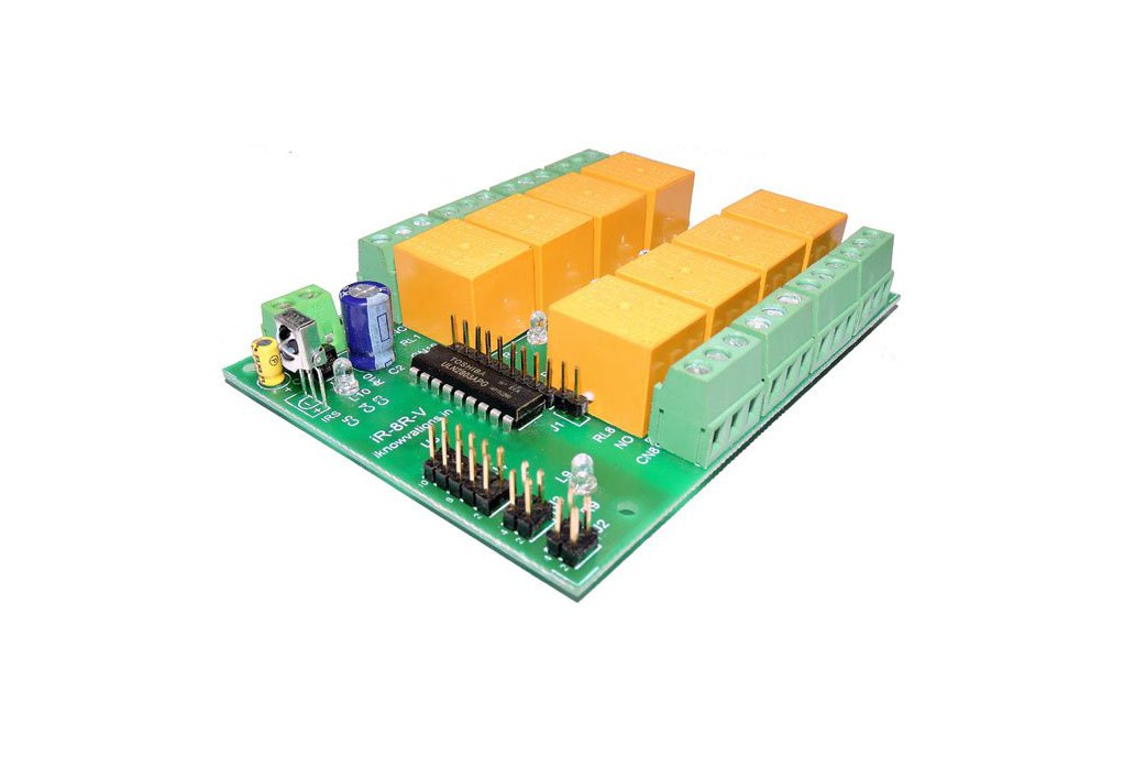 8 ch Programmable IR remote relay card 1
