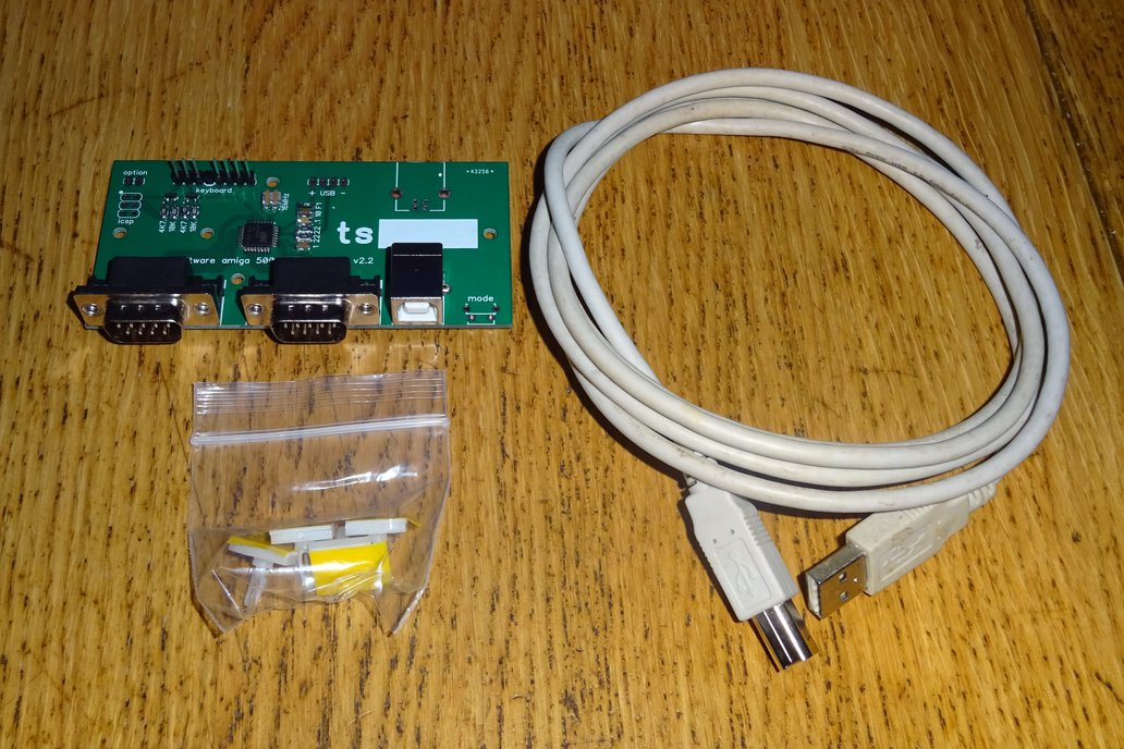 USB conversion kit for Amiga 500 keyboard by Tynemouth Software on Tindie