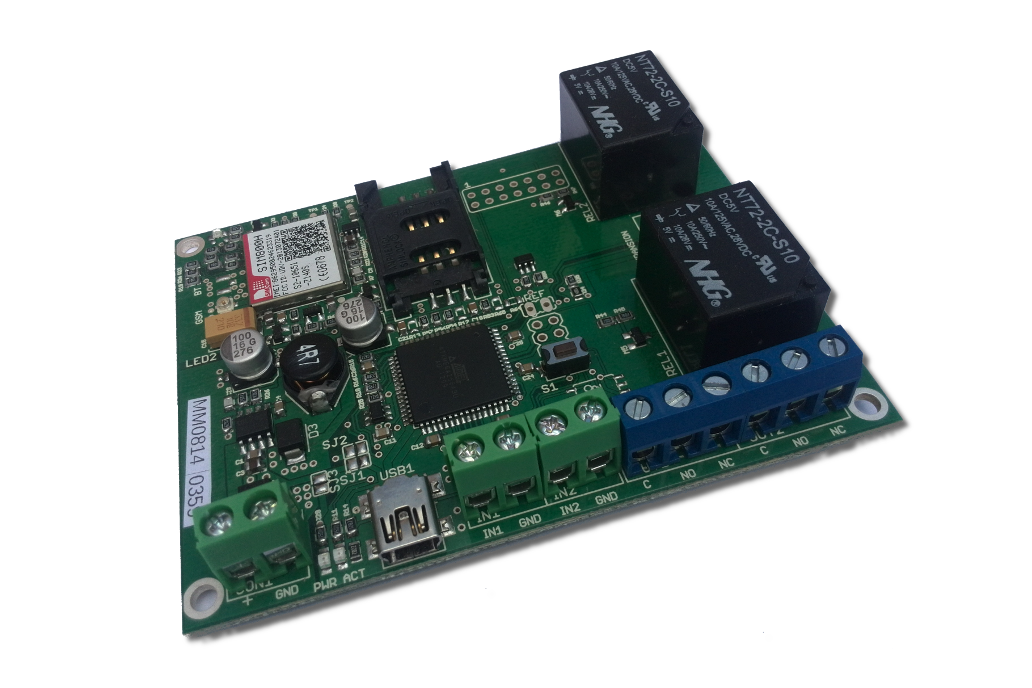 GSM/GPRS remote for control and sensing 1