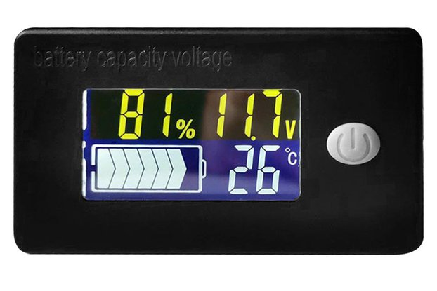 Battery Voltage and Electricity Thermometer