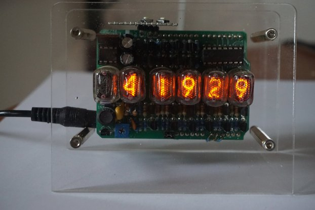 Nixie Clock with 6 x IN-17 tubes